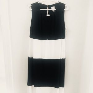 Chico's striking black and white long dress